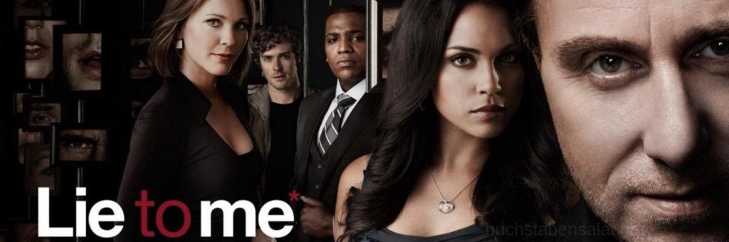 """Banner zur Serie """"Lie to Me"""". Abgebildet sind die Hauptfiguren. Ein hinterlegter Link führt zum Serientipp."""