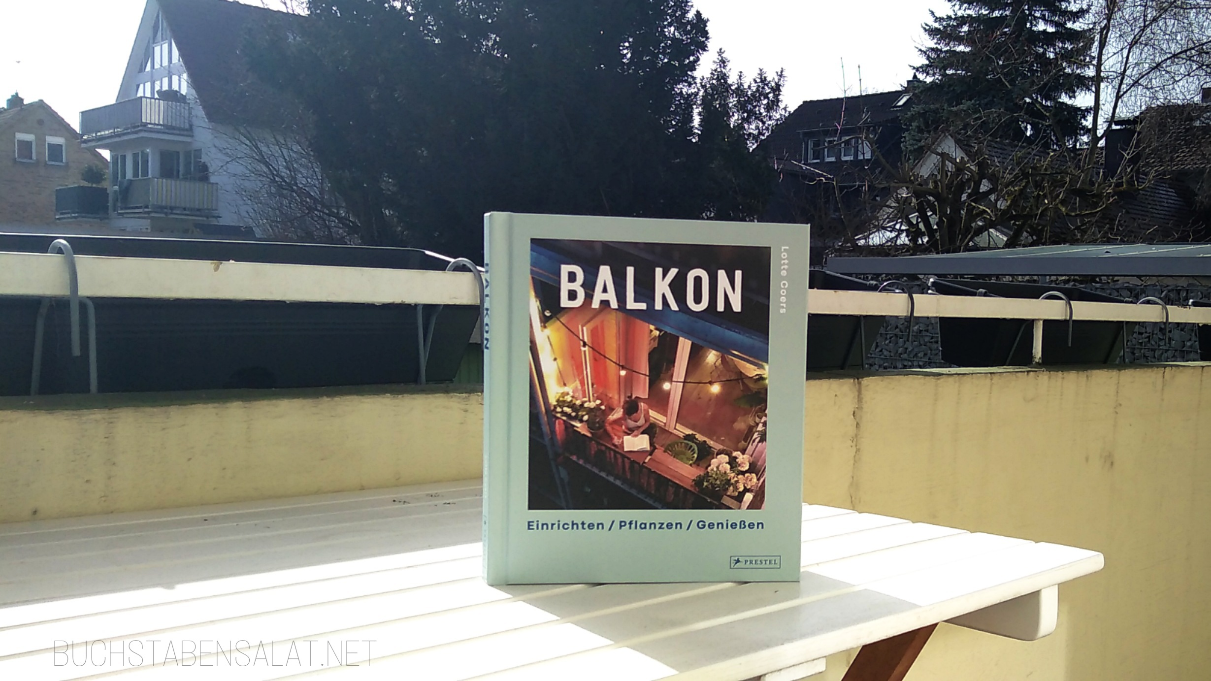 Buch Balkon von Lotte Coers stehend auf meinem Balkon, Coveransicht