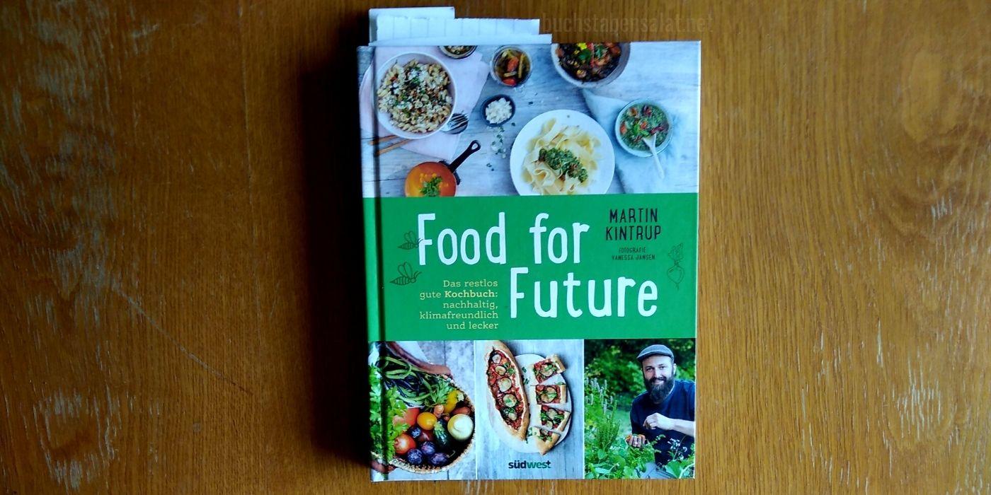 Food for Future. Kochbuch vor hellbraunem Grund